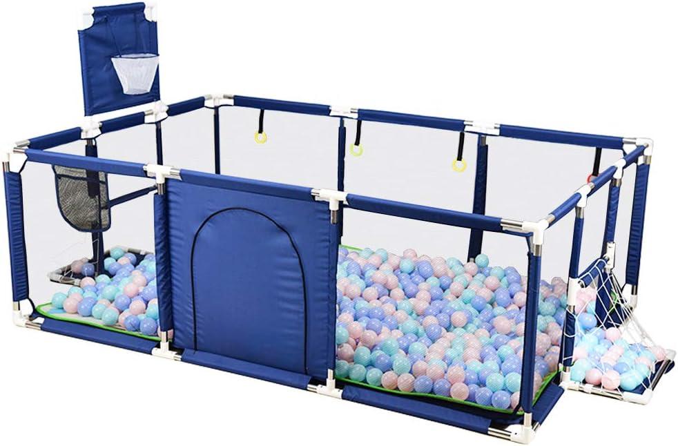Parques de Juegos Tela Bebé Parque Infantil con diseño de Marco de Canasta Divisor de habitación portátil - Cerca de la Puerta del área de Juegos para bebés y niños pequeños -