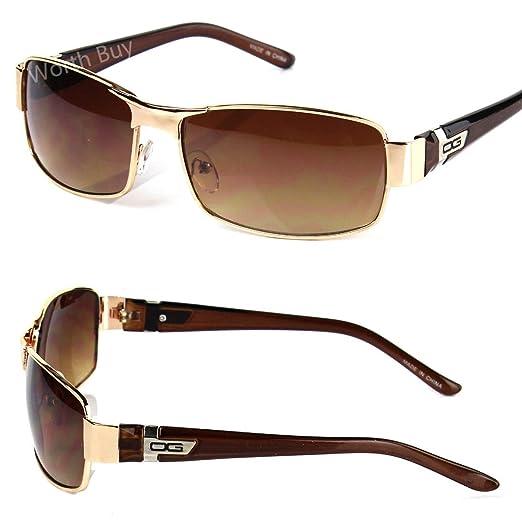 332d878699a79 Amazon.com  Mens DG Eyewear Wrap Around Sunglasses Fashion Designer  Rectangular Retro Shades  Clothing