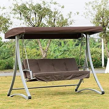 ZDYLM-Y Columpio Balancín Jardín Asiento de 3 plazas de 300 kg con protección Solar de Carga Solar y toldo, para Courtyard Terrace: Amazon.es: Deportes y aire libre