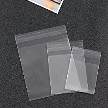 Saasiiyo 500PCS Cellophane Cookie Bags with Self Adhesive Food Grade Plastic Bag Packing for Candy Biscuit Samples Wedding Favor Bags