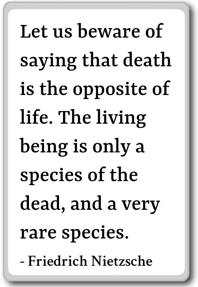 Amazon Let Us Beware Of Saying That Death Is T Friedrich
