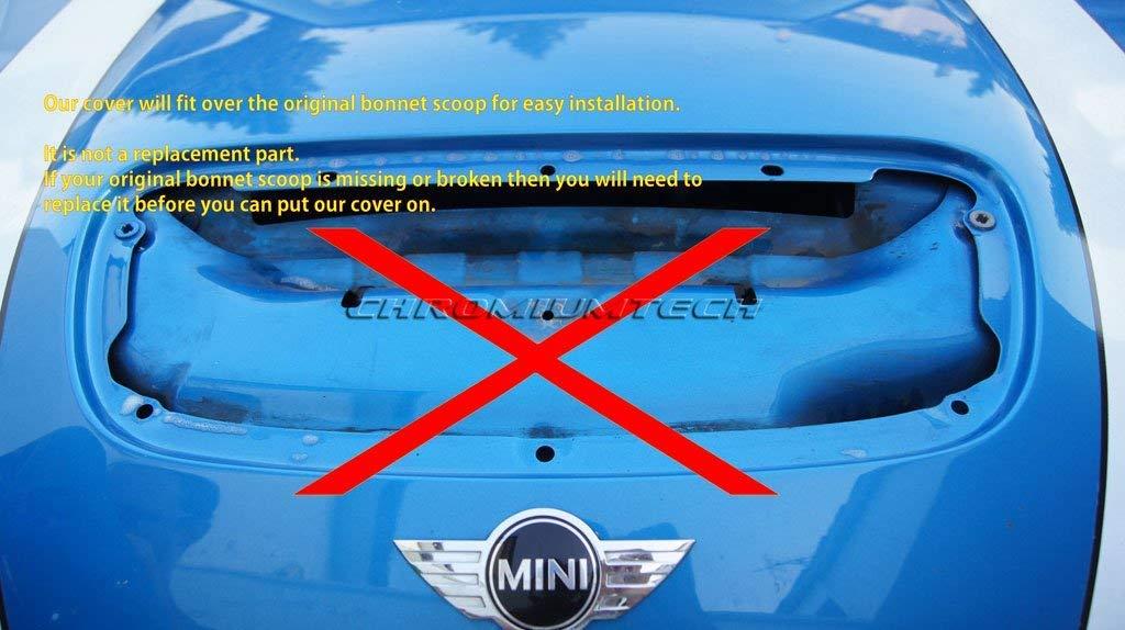 Chrome Chromiumtech HV-MIN05 Air Intake Bonnet Scoop//Hood vent Cover