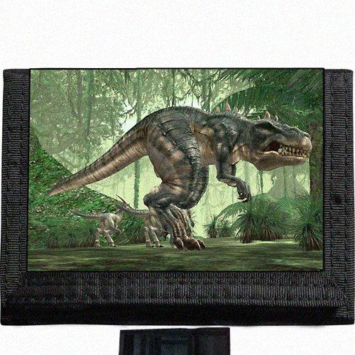 T Rex dinosaur tyrannosaurus rex Black TriFold Nylon Wallet Great Gift Idea ()