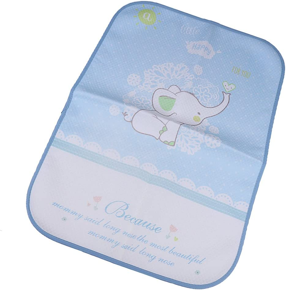 50x70cm Elefante Estera de Cambio de Pa/ñales para Beb/és Mat de Viaje Portable Bolsa Impermeable