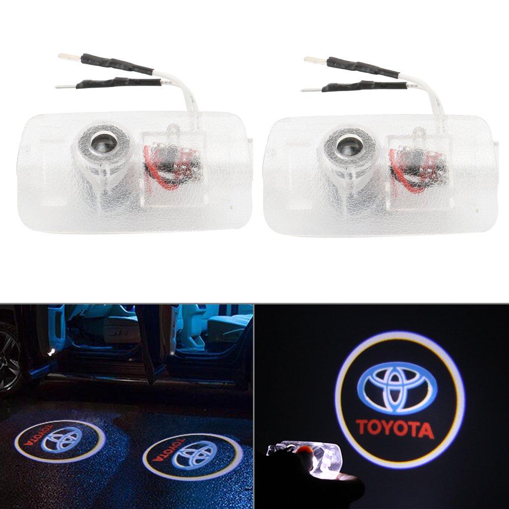 RCJ- Juego de luces LED para puerta de coche, proyector de sombra, kit de fá cil instalació n kit de fácil instalación