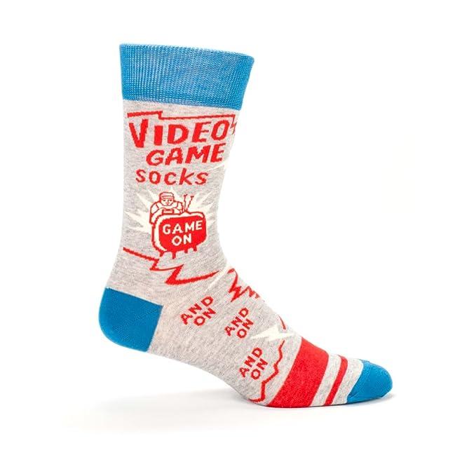 Blue Q Mens Novelty Crew Socks - Video Game Socks (One Size/Men's 7-12)