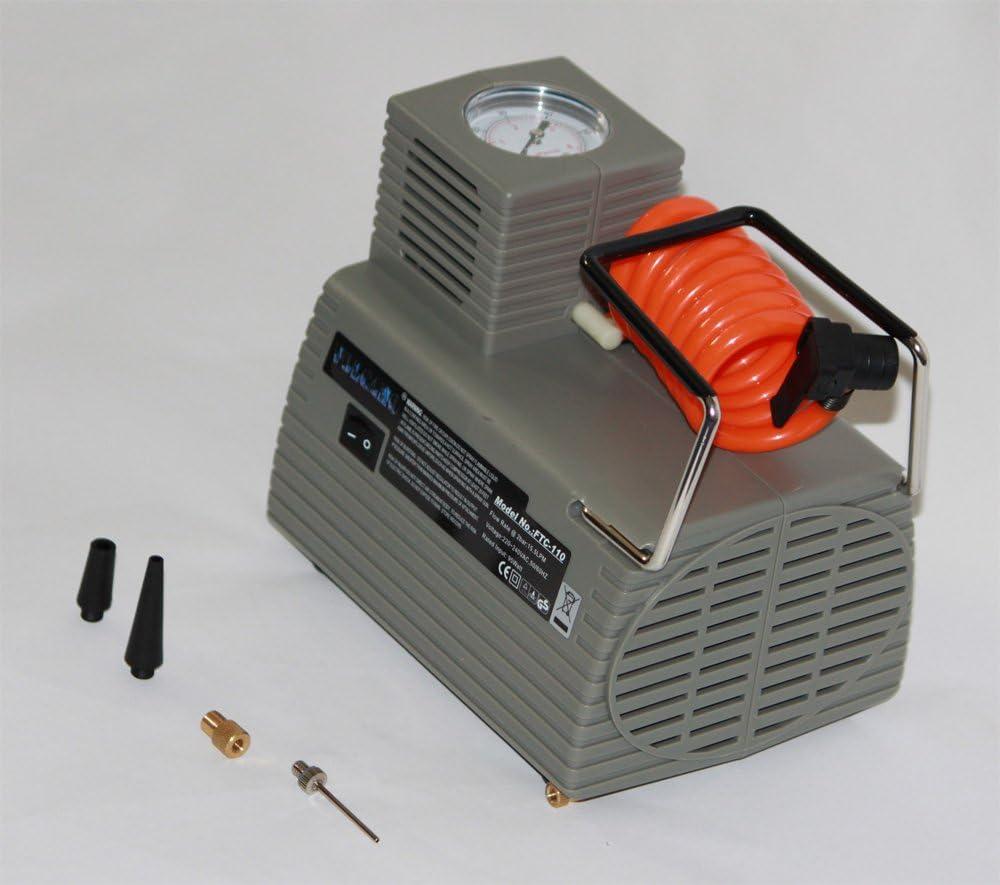 Boje Sport volcano110/ballkompressor ftc-110 Adulti Unisex Elektrische ballpumpe druckluftpumpe Fu/ßball Kompressor M 220/V 4/Bar Grigio