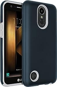 LG Harmony Case,LG K20 V Case,LG K20 Plus Case,LG V5 Case,LG K10 2017 Case,SENON Hybrid Dual Layer Shock-Absorption Protective Cover Shell Navy Blue