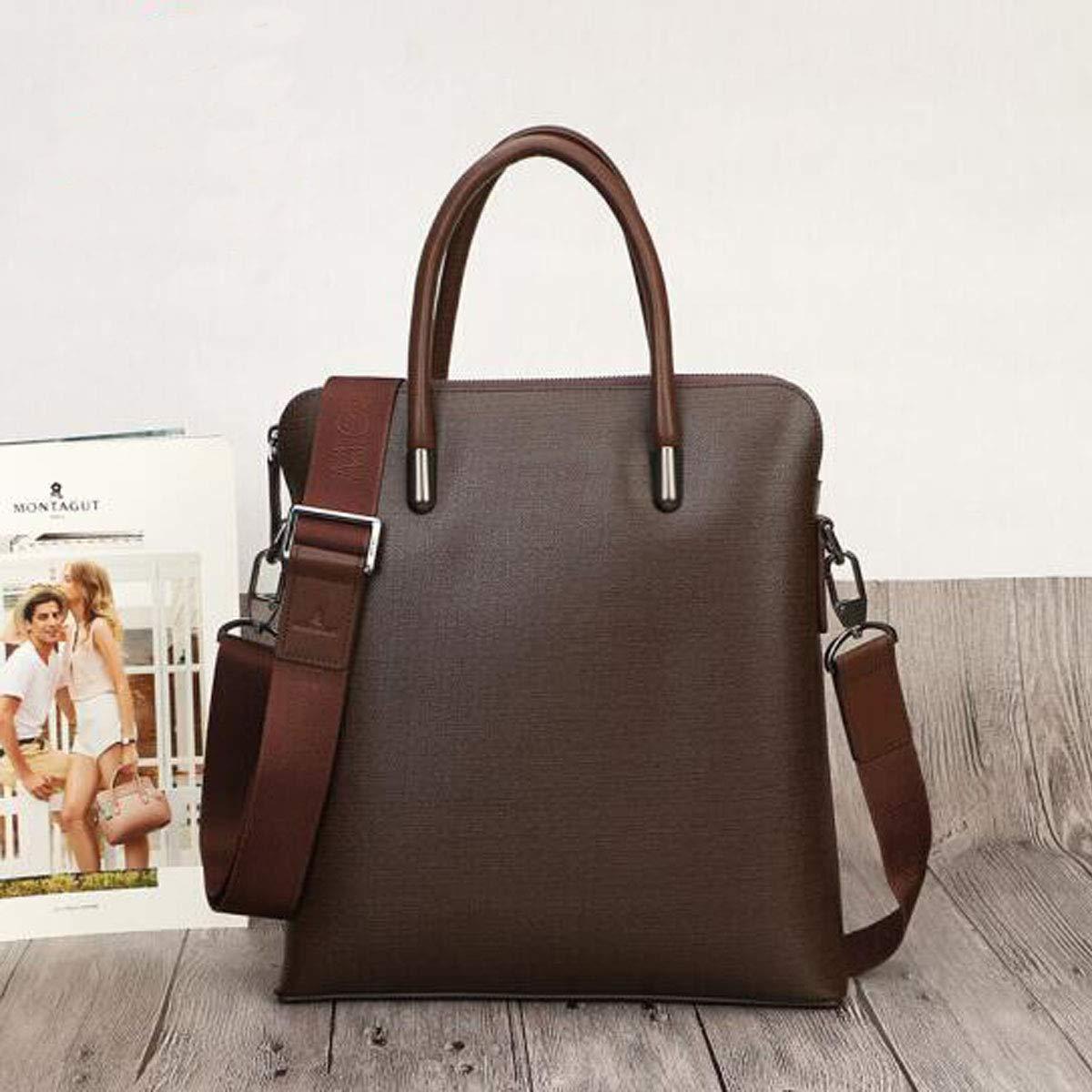Black Size: 30.5930cm New Leather Mens Handbag Briefcase Business Casual Computer Bag Shoulder Bag