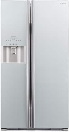 Hitachi 700L Side By Side Refrigerator Inverter Series Water Dispenser with Automatic Ice Maker Glass Grey RS700GPUK2GS 1 Year Warranty
