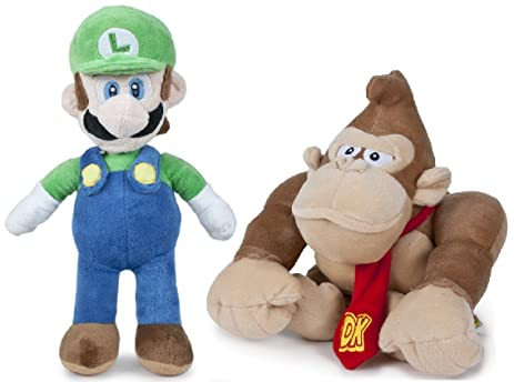 "SUPER MARIO BROS - Set of 2 Plush Toys ""Luigi"" (green cap"