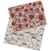 Ideen mit Herz 2 vellen rijstpapier | edel decoupage-papier | DIN A4 | 2 verschillende ontwerpen | vintage, Kerstmis en…