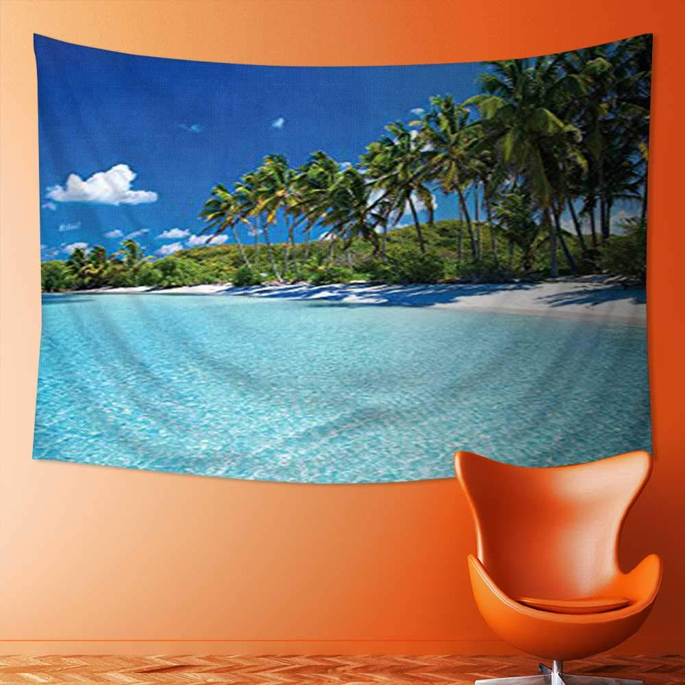SOCOMIMI Popular Art Tapestry Relax Beach Resort Spa Palm Trees and Sea Room Bedroom Living Room Dormitory Decoration