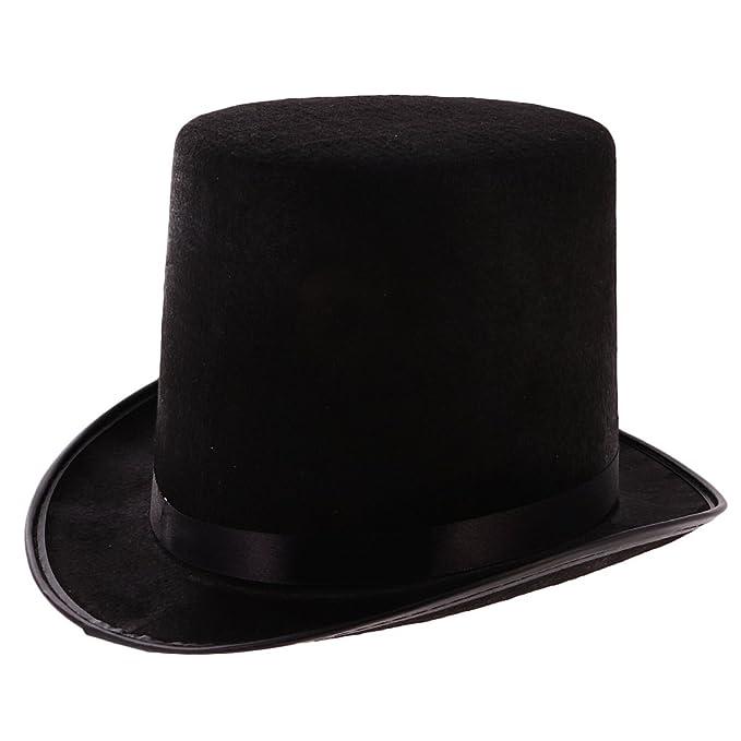 MagiDeal Juguetes de Disfraces Mago Halloween Sombrero Jazz Negro   Amazon.es  Juguetes y juegos 8141804894f