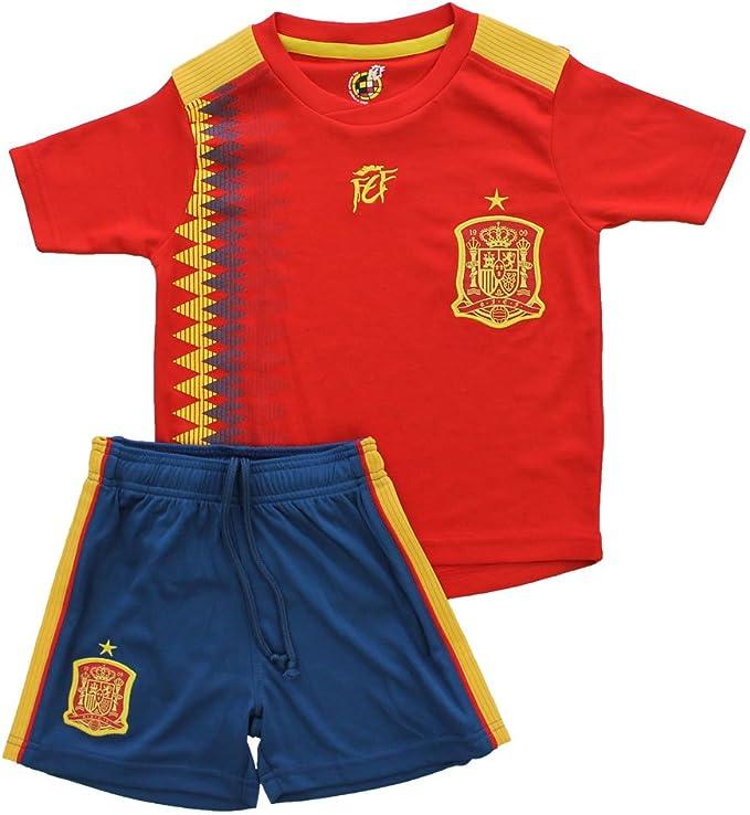 Mini Kit Replica Primera Equipación para niño Fase Final del Mundial de Rusia 2018 Compuesto de Camiseta,Pantalones: Amazon.es: Deportes y aire libre