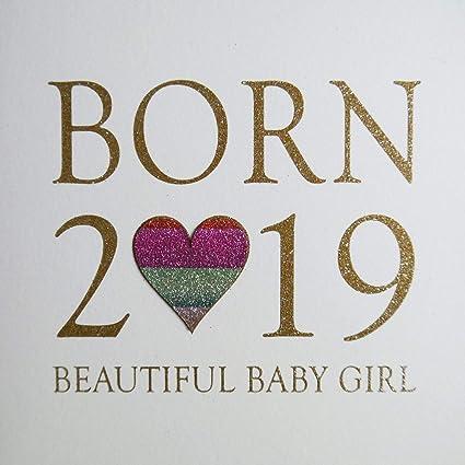 Nacido 2019, hermosa niña – Lovingly hecho a mano e impreso con ...