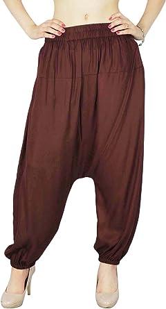 Ladies Harem Pants Bohemian Baggy Aladdin Genie Hippy Yoga Trousers Plus Size PS