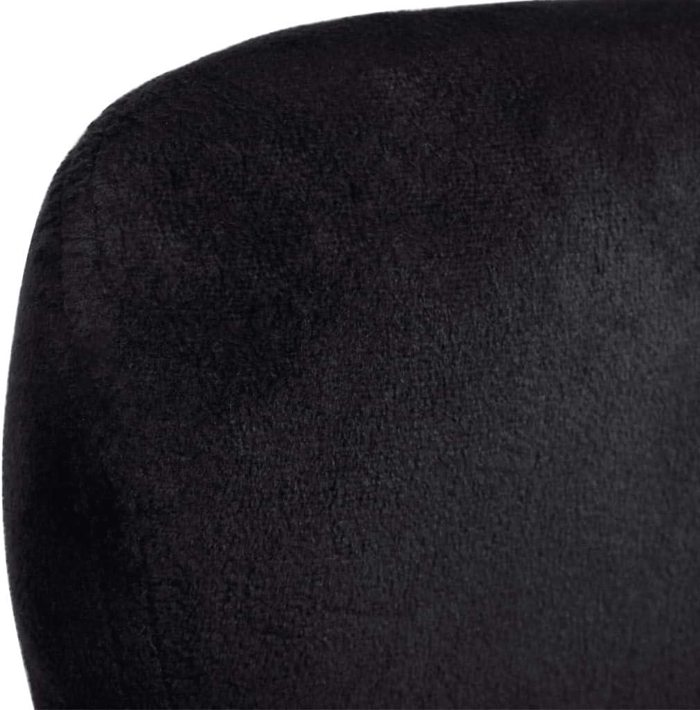 vidaXL Sillón Giratorio con Cojín Forma de Huevo Plateado Asiento Silla Salón Negro yssZBD