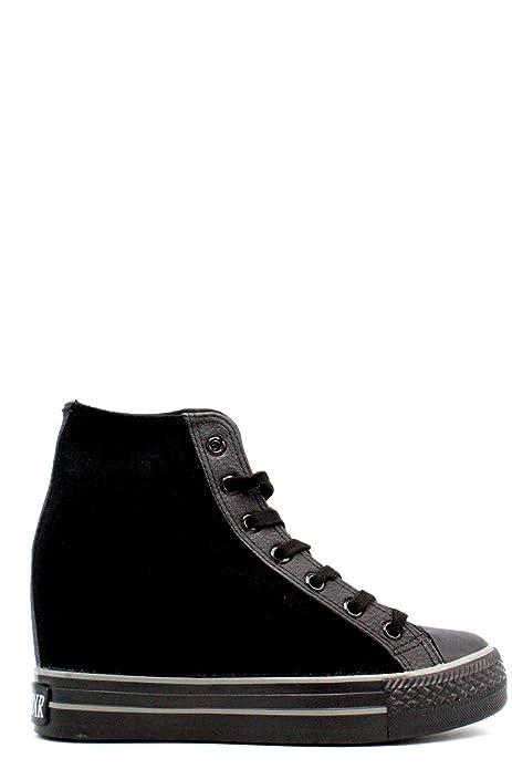 In Donna Tessuto Zeppa Interna Sneakers Con Strap Nero Cafènoir pHwgEvCqnW