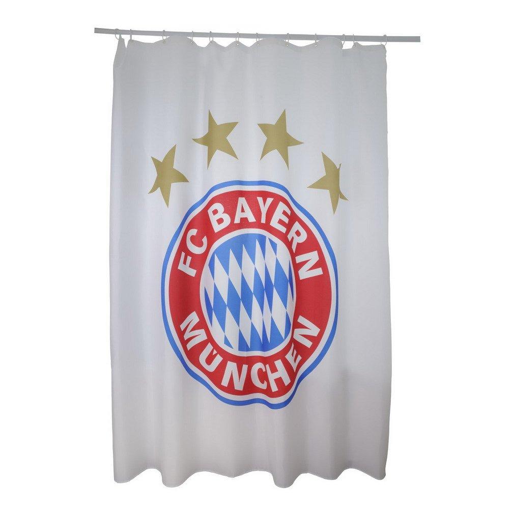Vorhänge München fc bayern münchen duschvorhang 180x200cm amazon de küche haushalt