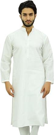 Atasi Llanura Blanca Etnica Camisa Larga de Doble Verano ...