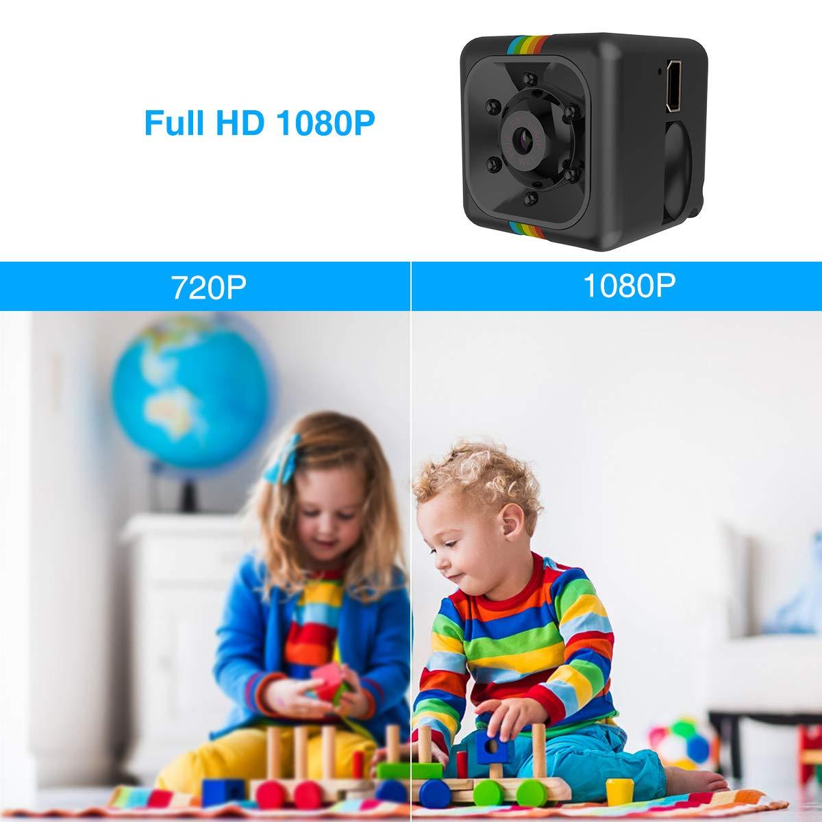 pour Int/érieure et Ext/érieure Mini Cam/éra Espion Magnetic avec Vision Nocturne Infrarouge // D/étection de Mouvement FLYLINKTECH Cam/éra Cach/ée Surveillance Portable 1080P Micro SD 32Go Inclus