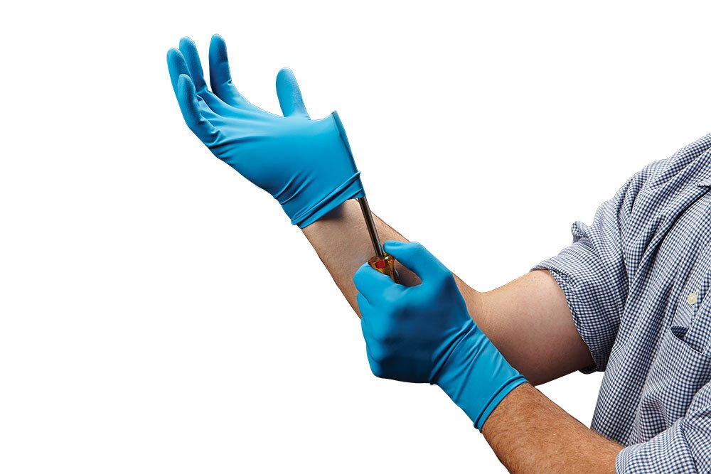 Medline VEN6025 Venom Steel Latex Gloves, Splash Protection, Blue (Pack of 480)