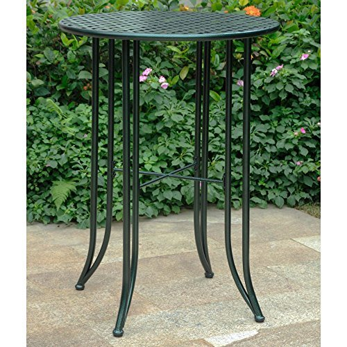 Iron Bar-Height Patio Table in Verdigris For Sale