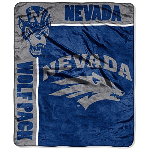 The Northwest Company Officially Licensed NCAA Nevada Reno Wolfpack School Spirit Plush Raschel Throw Blanket, 50