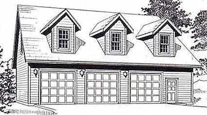 Garage Plans Three Car Garage With Loft Apartment Truss Version