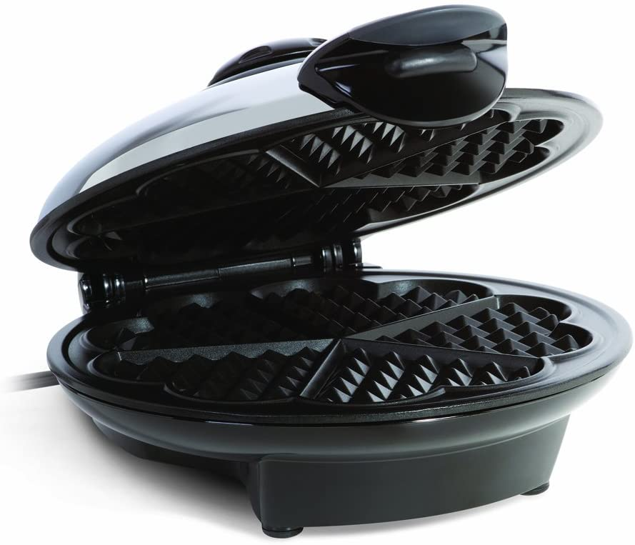 Euro Cuisine WM520 Eco Friendly Heart Shaped Waffle Maker – PTFE and PFOA Free Non Stick Plates