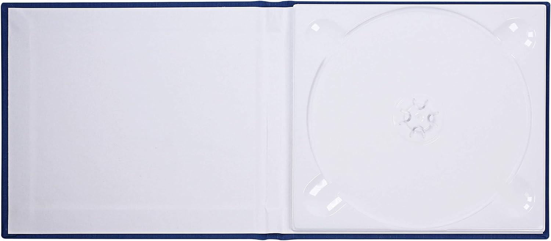 Funda de CD de tapa dura personalizada, con apariencia de lino azul con texto individual - Para un CD o DVD - Ideal para aplicaciones: Amazon.es: Oficina y papelería