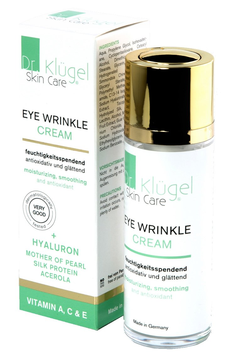 Augencreme gegen Falten und Augenringe 30ml - Anti-Aging Augenfaltencreme mit Jojobaöl, Hyaluron, Vitaminen - Dr. Klügel Eye Wrinkle Cream Novoselect GmbH
