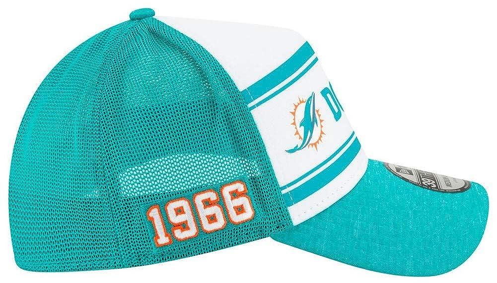 New Era Mens Miami Dolphins Cap Hat Sideline Home NFL Football Mesh 100 Season