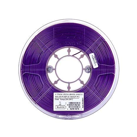 Esun 3d PETG impresora 3d filamento de 1,75 mm 1 kg bobina (1,75 ...
