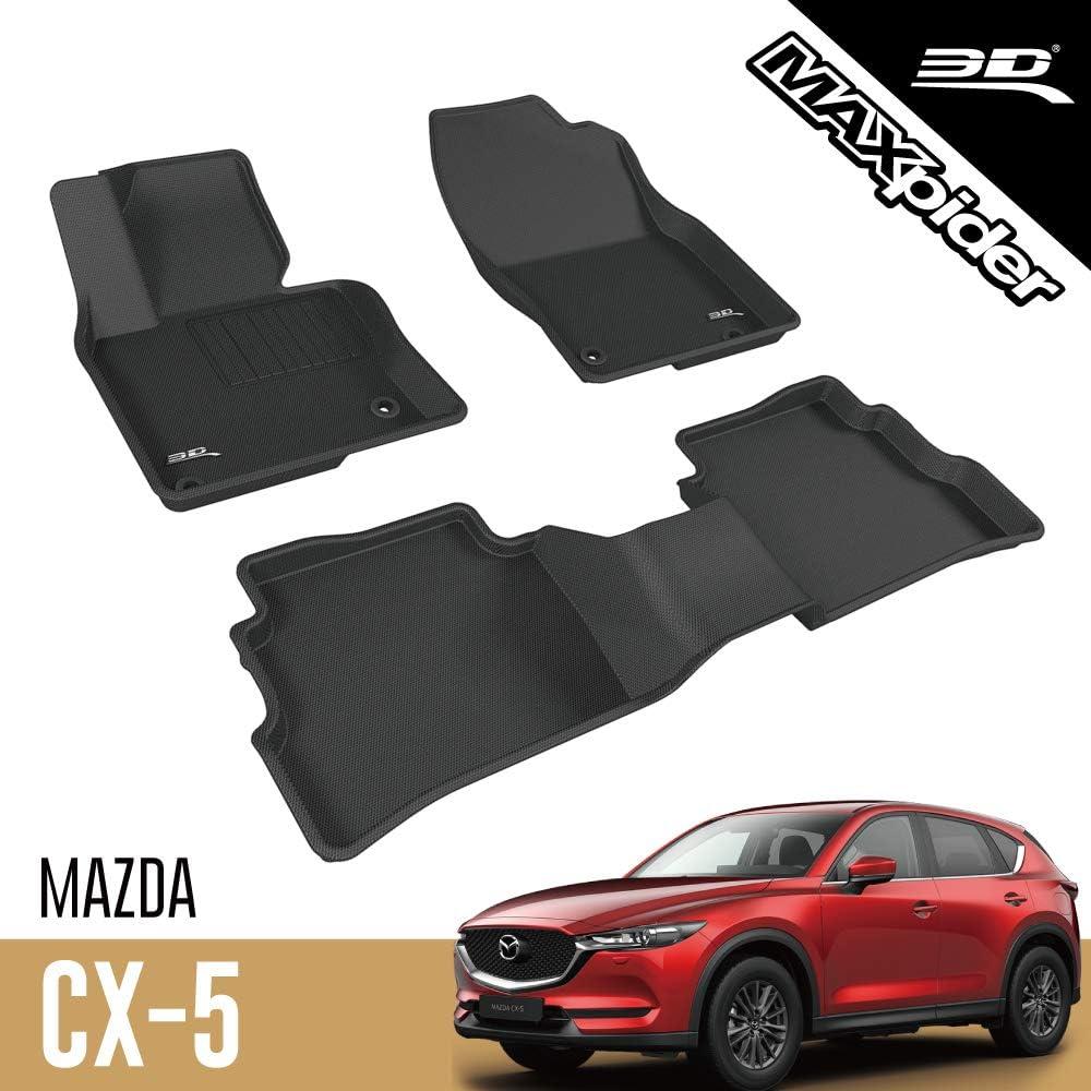 3d Maxpider Mazda Cx 5 Cx5 2017 2020 Passgenaue Allwetter Fußmatten Gummi Auto Matten Fussmatten Gummimatten Kagu Serien 1 Und 2 Reihe Schwarz Auto