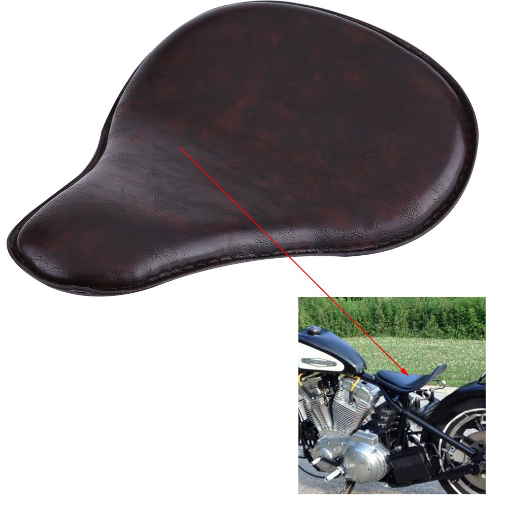 Anauto Motorcycle Motorbike Solo Seat Kit with 2 Springs and 1 Mount Bracket for Harley Bobber Custom