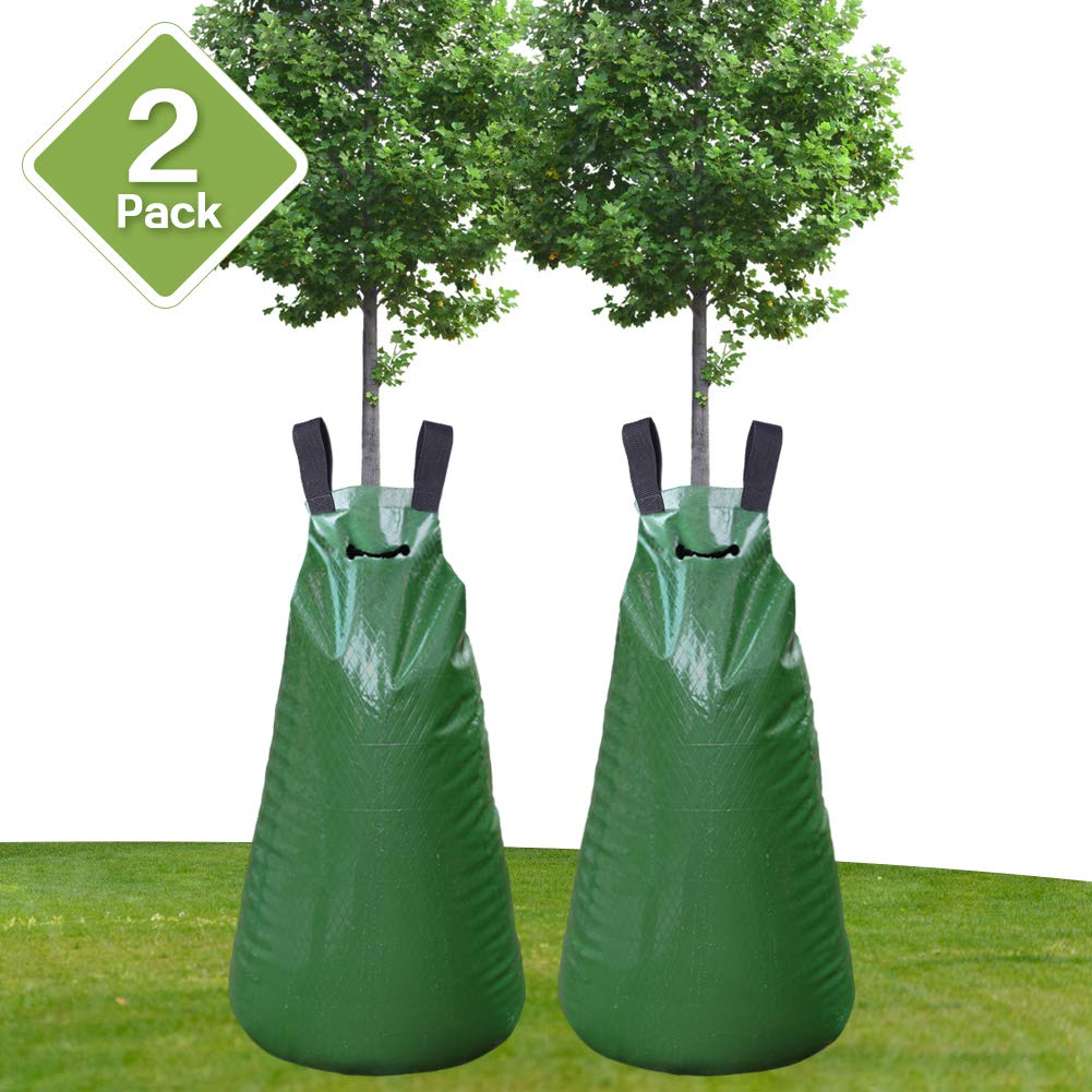 Remiawy Tree Watering Bag 2 Pack 20 Gallon Slow Release Watering Bag for Trees and Plants, Tree Water Bag Made of Heavy-duty PE Tarpaulin Material with Zipper-Updated Version(5-8 Hours Releasing Time) by Remiawy