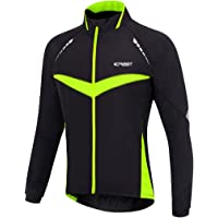 iCREAT Herren Jacket Air Jacket Winddichte Wasserdichte MTB Mountainbike Jacket Visible reflektierend, Fleece Warm Jacket für Herbst, Gr.S bis XXL