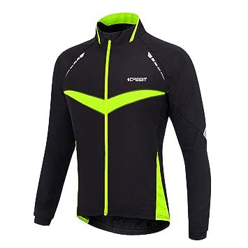 Warm Jacket Air Wasserdichte Mtb Mountainbike Gr xl HerbstGrün ReflektierendFleece Visible Icreat Herren Für Winddichte tdxrshCQ