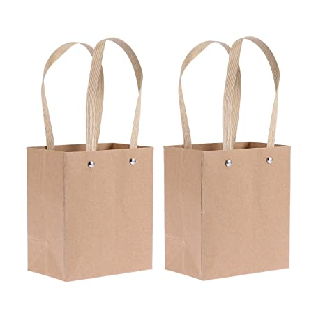 Amosfun 5 bolsas de papel kraft con asa para cumpleaños ...