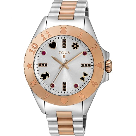RELOJ TOUS NEW MOTIF BICOLOR DE ACERO/IP ROSADO 600350375: Amazon.es: Relojes
