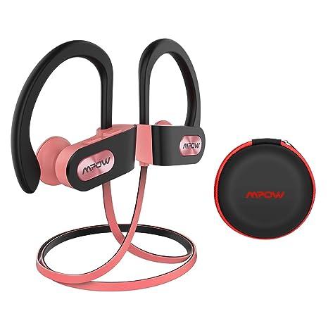 Mpow Auriculares Bluetooth Deportivos, V4.1 Impermeable IPX7 In-Ear Cascos Inalámbricos,Auricular Running Deporte Correr con Micrófono,Cancelación de ...