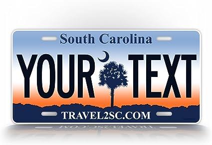 "South Carolina SC Blue Palmetto State Tag 6/""x12/"" Aluminum License Plate Sign"