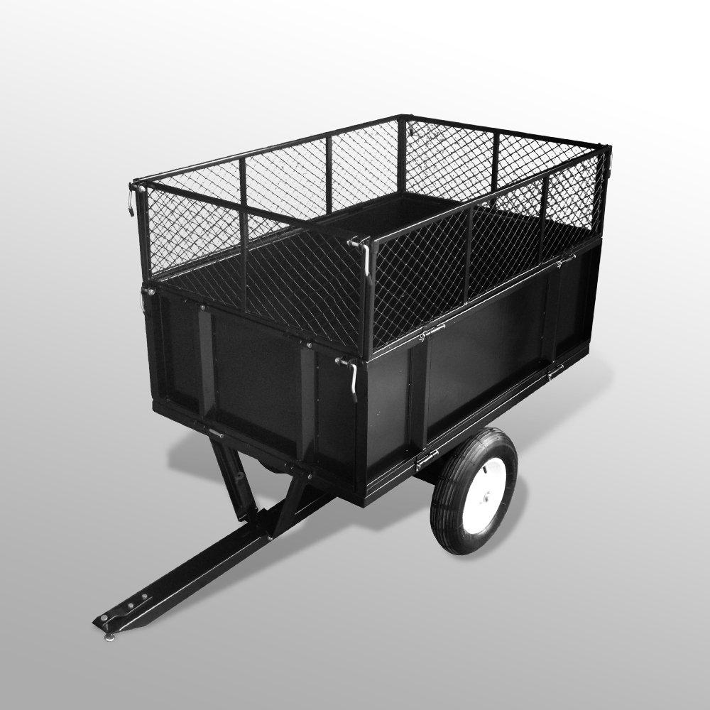 Anhänger für Aufsitzmäher Rasentraktor kippbar 300 kg: Amazon.de ...