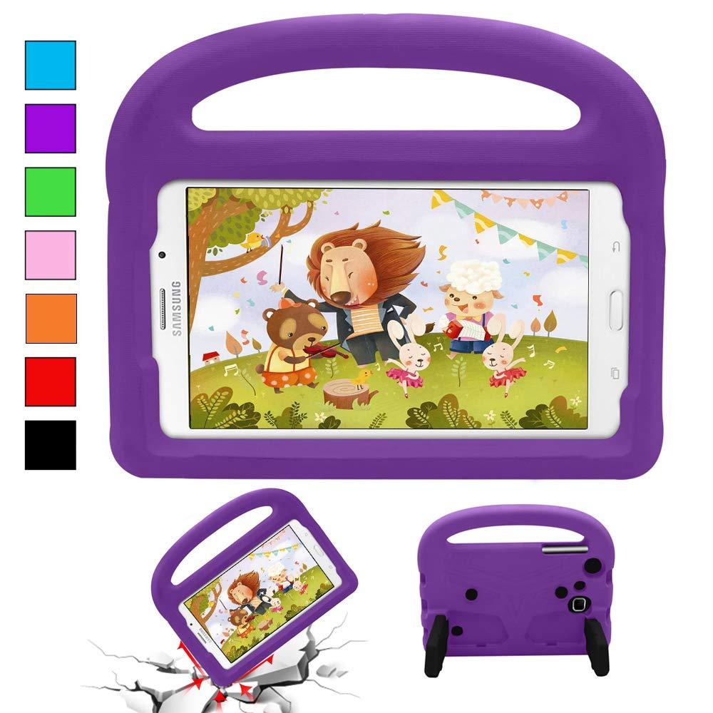 【翌日発送可能】 YooNow Samsung Galaxy Tab Tab 7インチ 3 7.0用ケース キッズ用 Tab 耐衝撃性 3 Lite Tab E Lite Tab 4ケース 軽量 完全保護 耐衝撃性 ケースカバー キャリーハンドル付き Samsung Galaxy Tab 3/3 Lite タブレット用 7インチ Tab 3 kids case Purple-01 B07KYSFZFY, 工房 おべべや:79c88404 --- a0267596.xsph.ru