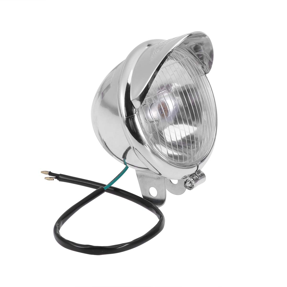 LIOOBO 2Pc Universal Motorcycle Rear LED Fog Light Warning Lamp Anti-Collision Taillight (Silver)