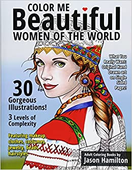 Amazon Com Color Me Beautiful Women Of The World Adult Coloring