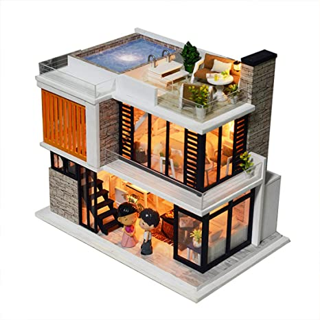 Power With Furniture Dust Cover Diy Mini Dollhouse Miniature Toy