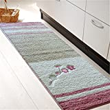 Elegant Kitchen Rugs Softy Non-slip Kitchen/Bathroom Mat Rug Rubber Backing Doormat Runner Rugs ,Elegant Embroidery, Rural Style 17